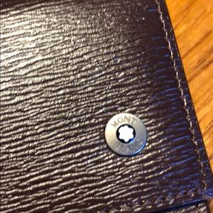 MontBlanc Cardholder brown leather